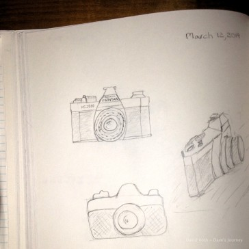 sketches of a camera
