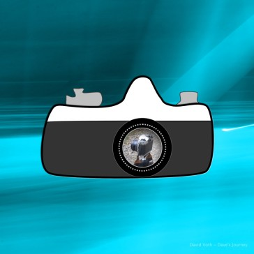 Image with sketch and photo of camera